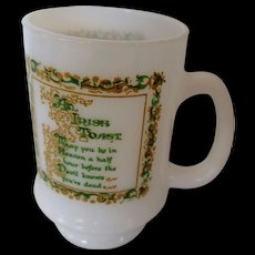 Irish Toasting Pedestal Mug with Verse