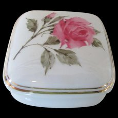 """What The World Need Now"" Rose Pattern Trinket Box 1987"