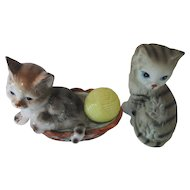 Enesco Cat Figurines 1980s Tabby Cats