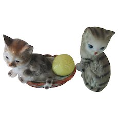 Enesco Cat Figurines 1980s Tabby Cats