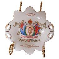 Edward VIII Coronation Plate 1937 Tuscan China England