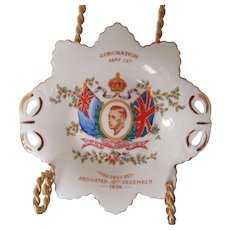 Edward VIII Coronation Plate 1937 Tuscan China England