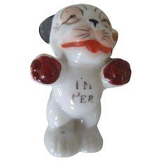 """I'm Pep"" 1950s Salt and Pepper Shaker Dog"