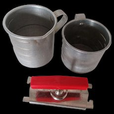 Universal Aluminum Cup, Wear Ever Cup & Edlund Top Off Jar Opener