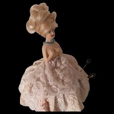 1930s Porcelain Doll Torso & Base Pin Cushion