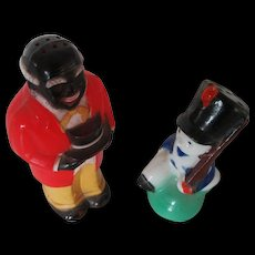 Uncle Moses Plastic Shaker F and F Toy Soldier Shaker