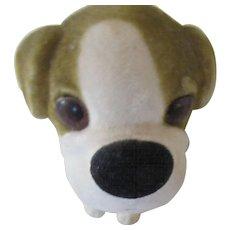 1960s Bobble Head Dog with Felt Like Fur