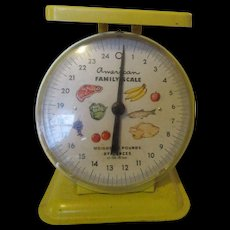 Mid Century American Family Kitchen Scale-It Works