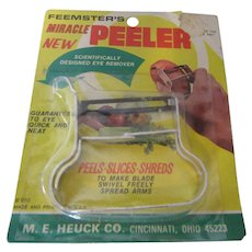 Feemster's Miracle Peeler #910 Peels, Slices and Shreds M.E.Heuck Co.