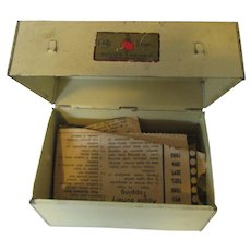Polly Prim Recipe Box 1940s Recipe Cabinet USA Patent 1729126