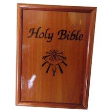 Holy Bible King James Version 1991 Wooden Bible Box