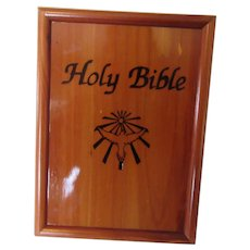 Holy Bible King James Version 1991 Wooden Bible Box
