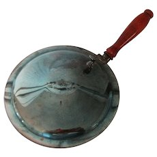 1950s Silent Butler or Crumb Catcher with Patina