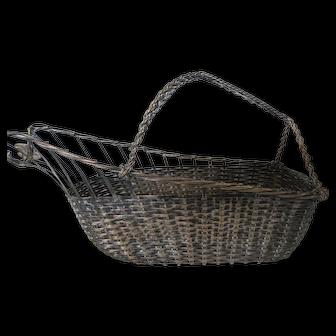 Silver Plate Wine Bottle Serving Basket