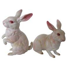 Lefton's Vintage Rabbit Duo Japan Beautiful Coloring