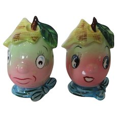 Hand Painted Coronet Fruit Salt and Pepper Shakers Japan