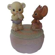 "1980s Enesco Music Box ""Its A Small World""for Nursery"