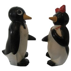 1950s Willie and Millie Penguin Plastic Salt and Pepper Set