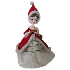 MidCentury Christmas Doll for Mantel Decor