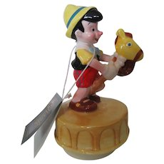 "Walt Disney Pinocchio Schmid  Music Box ""Wish Upon A Star"""