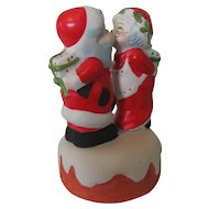 """I Saw Mommy Kissing Santa Claus"" 1980s Ceramic Music Box"