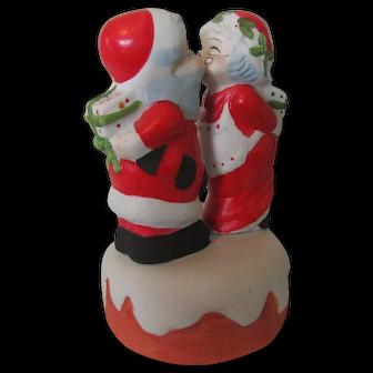 """I Saw Mommy Kissing Santa Claus"" 1980s Ceramic Music Box"