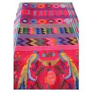 Woven, Colorful Table Runner Parrot Design -Antigua & Guatemala