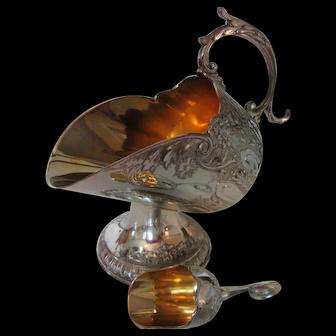 Decorative Sugar Bowl with Small Sugar Scoop 1950s
