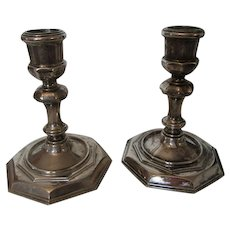 Rustic Silver Plate Candle Sticks for Outdoor dining