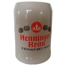 Gertz German Mug Henninger Brau Frankfurt-Main .5 L