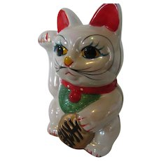 Beckoning Cat Bank Japan -Lucky Maneki Neko