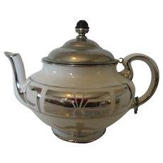 Buffalo China Teapot Hand Painted Royal Rochester Studio, 1915 N.Y.