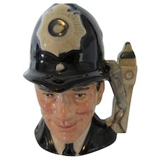 "Royal Doulton The London ""Bobby"" Toby Jug D 6763 1985"