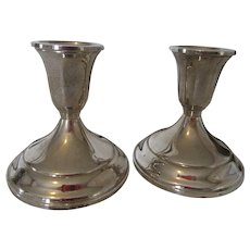 Towle Sterling Candle Holders Unused and Weighted