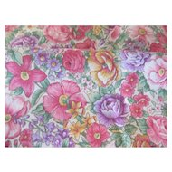 Floral Card Table Table Cloth Cranston Print Works Hand Sewn