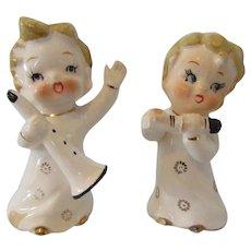 Vintage Ceramic  Musical Angels  Hand Painted Japan
