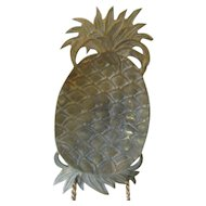 Brass Pineapple Dish or Wall Hanging-Rustic