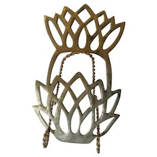 Brass Pineapple Trivet Symbol of Hospitality