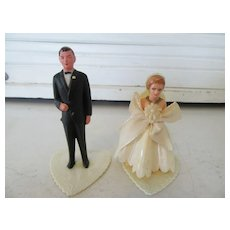 Vintage 1950s Wedding Cake Bride and Groom Hong Kong