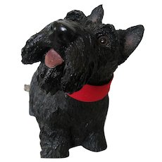 1960s Large Resin Scottie Dog U.S.A. -Excellent Condition
