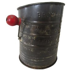 Flour Sifter: Bromwell's Measuring Sifter 3 Cups 1940s