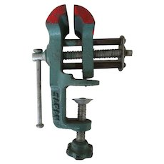 Vintage Small Metal Vise -Adjustable  Made in Japan