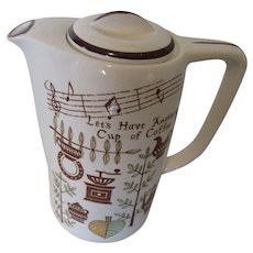 Japanese Coffee Pot Music Box by Tilso Hand Painted