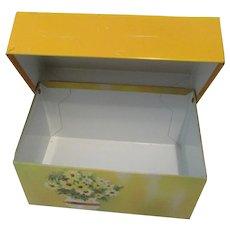 Ohio Art Co. Yellow Recipe Box 1970's to Share