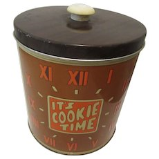 Cookie Time Canister J.L. Clark Rockford Ill. 1960s