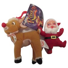 Rudolph and Santa for Tabletop or Tree