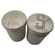 Mid Century Aluminum Salt and Pepper Shakers for Picnics or Camping