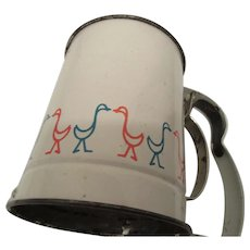 Flour Sifter: Androck Made in U.S.A. 1950s with Colorful Birds