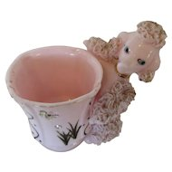 Retro Pink Poodle Guest Cup with Spaghetti Pink Poodle