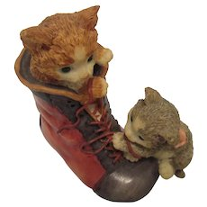 "1994 ""You've Got A Friend"" Kitten San Francisco Co. Music Box"